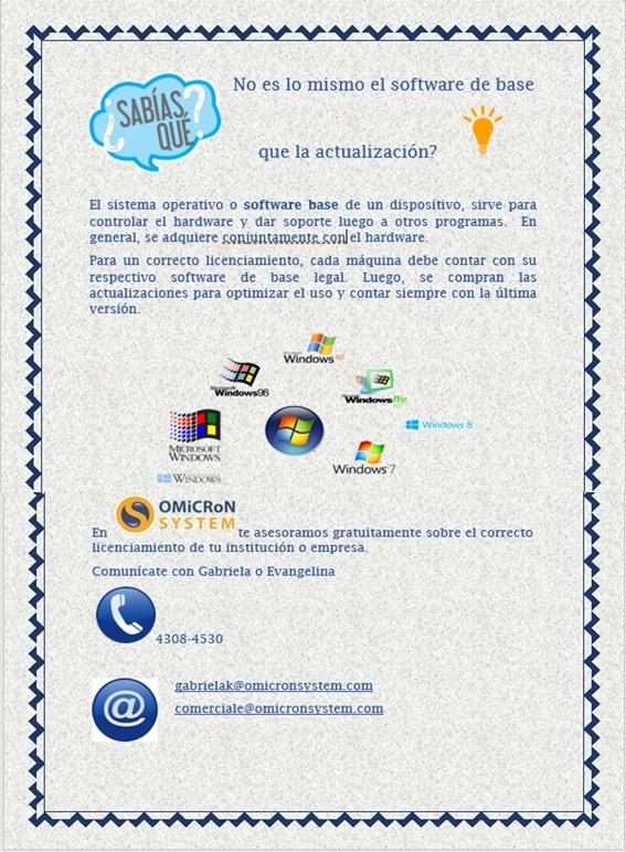 Campaña software base